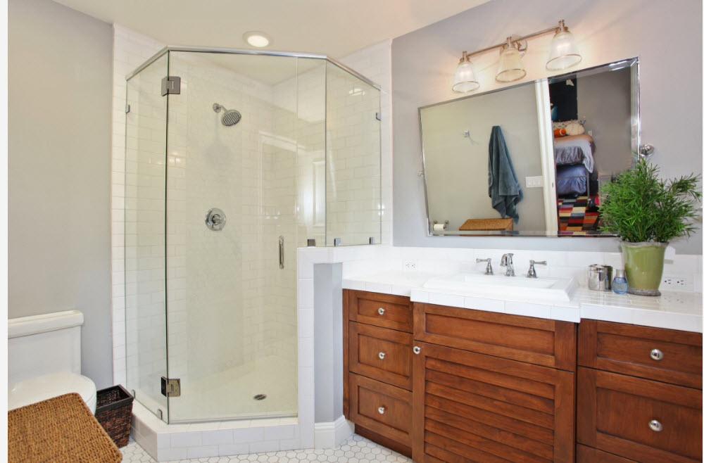 100 л���и� идей д��евая кабинка в ин�е��е�е ванной