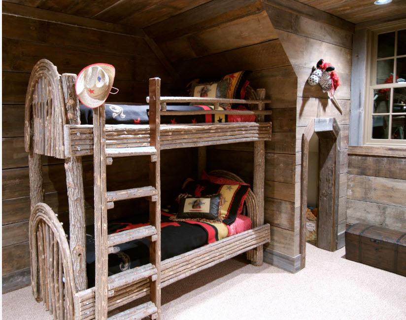 Деревянная детская комната своими руками