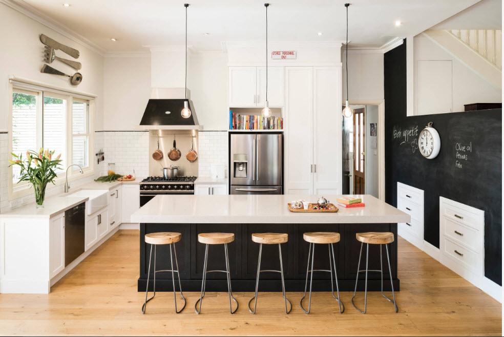 Дизайн для просторной кухни