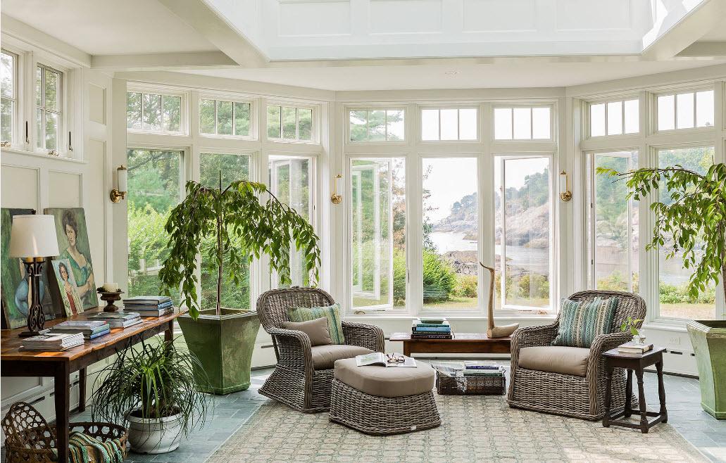 Плетеная мебель для оранжереи