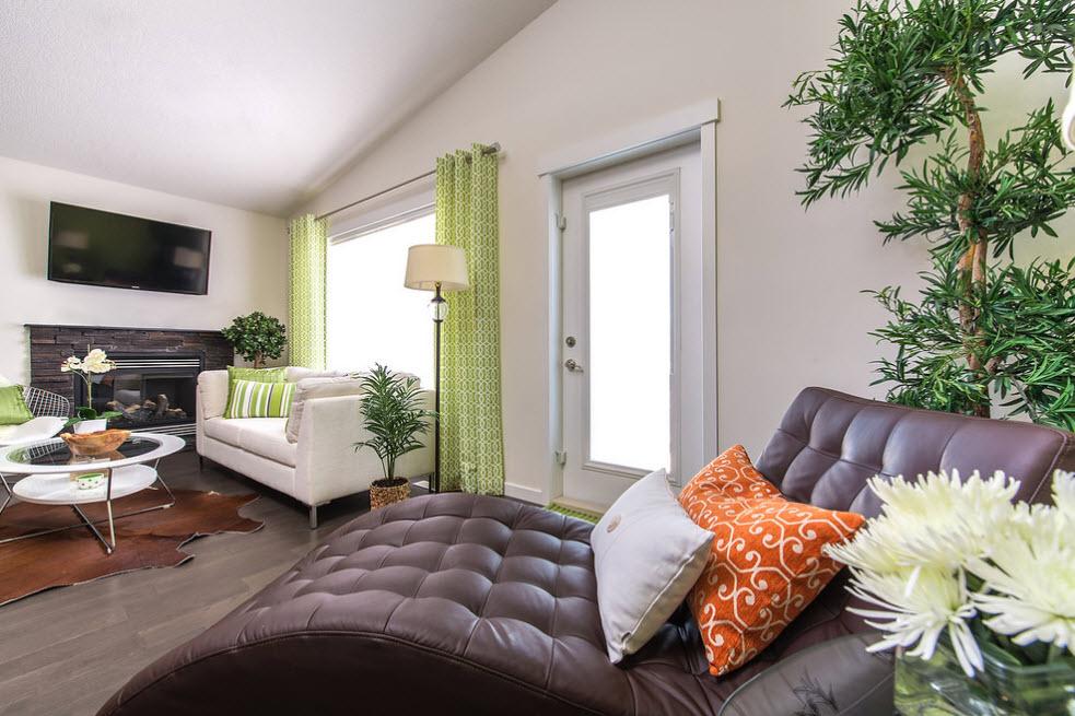 Светло-зеленые шторы