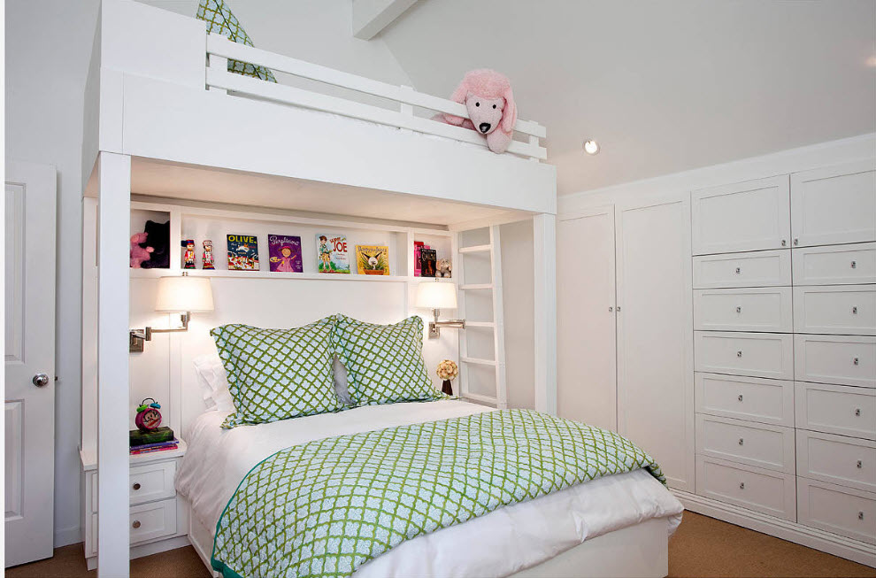Спальные места в два ряда