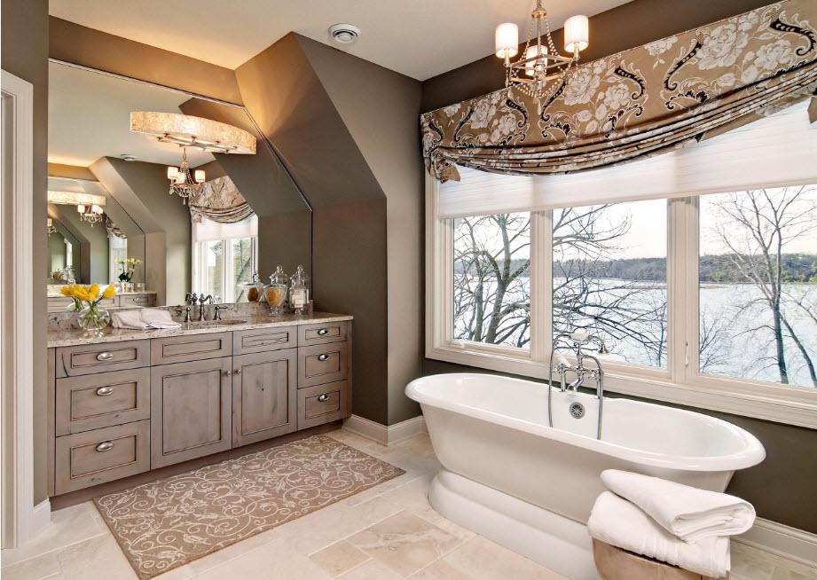 Природные оттенки в дизайне ванной