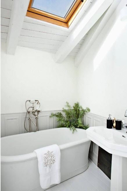 Потолок и стены в белом цвете