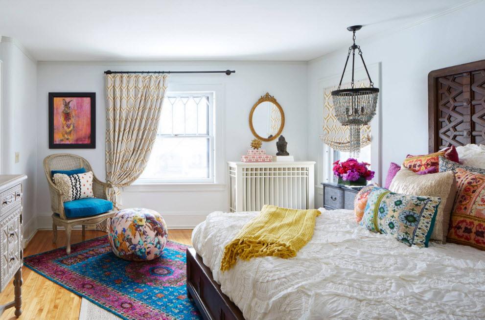 Эклектичный дизайн спальни