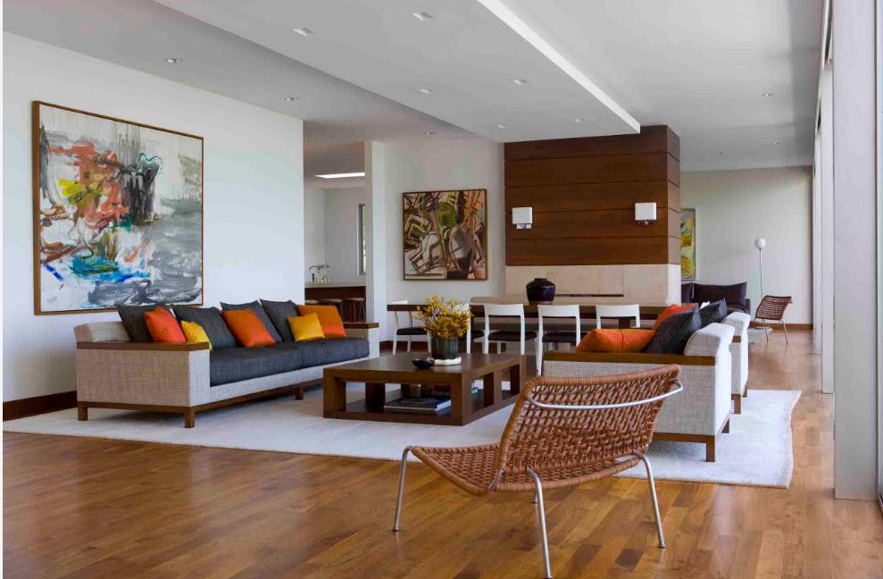 Отделка для просторной гостиной