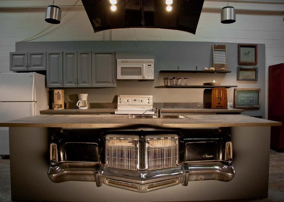 Креативный дизайн лофт-кухни
