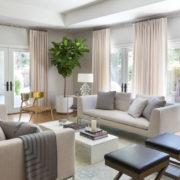 Благородный цвет айвори в дизайне гостиной