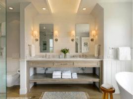 Система освещения в современной ванной комнате