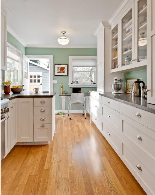 Мятный фон для кухни