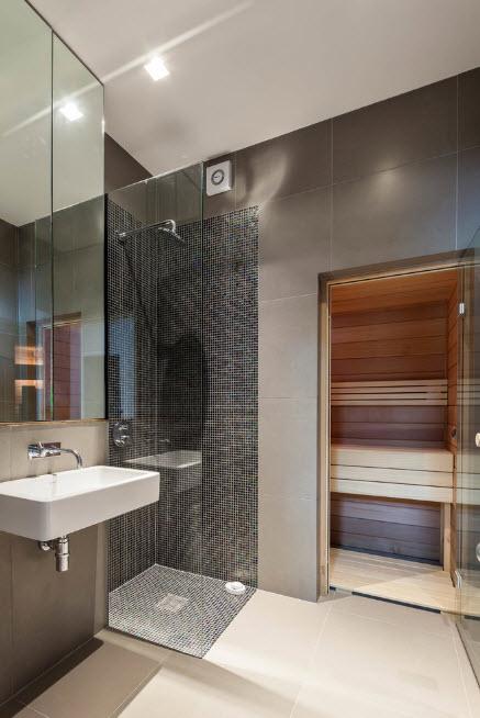 Парная в рамках ванной