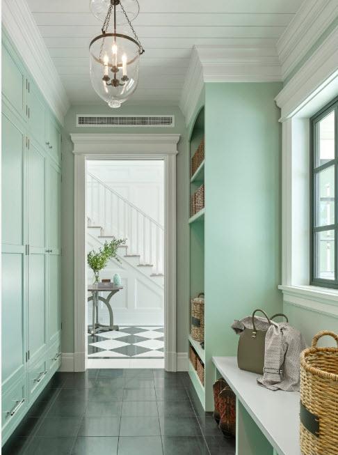 Мятный цвет для коридоров