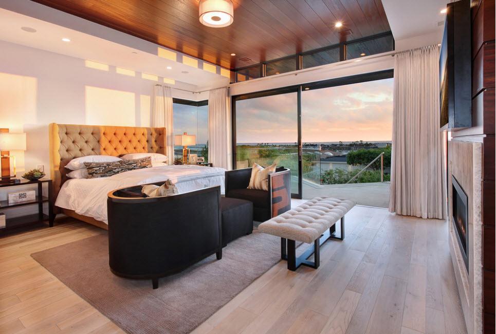 Дизайн просторной спальни