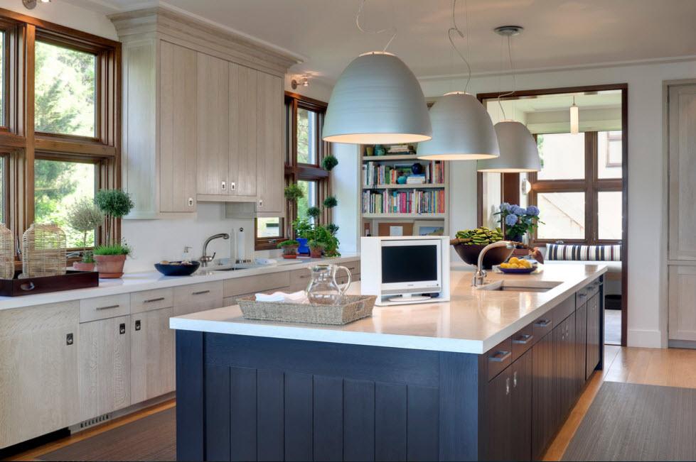 Кухонные фасады в светлом тоне