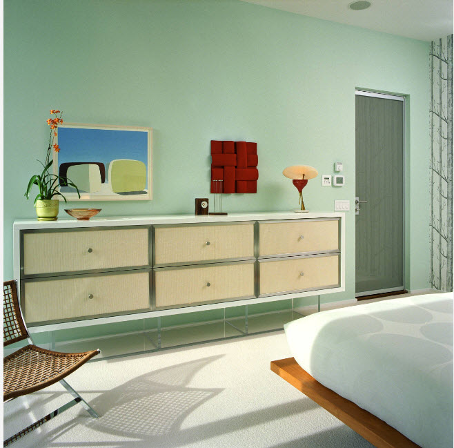 Ненавязчивый дизайн спальни