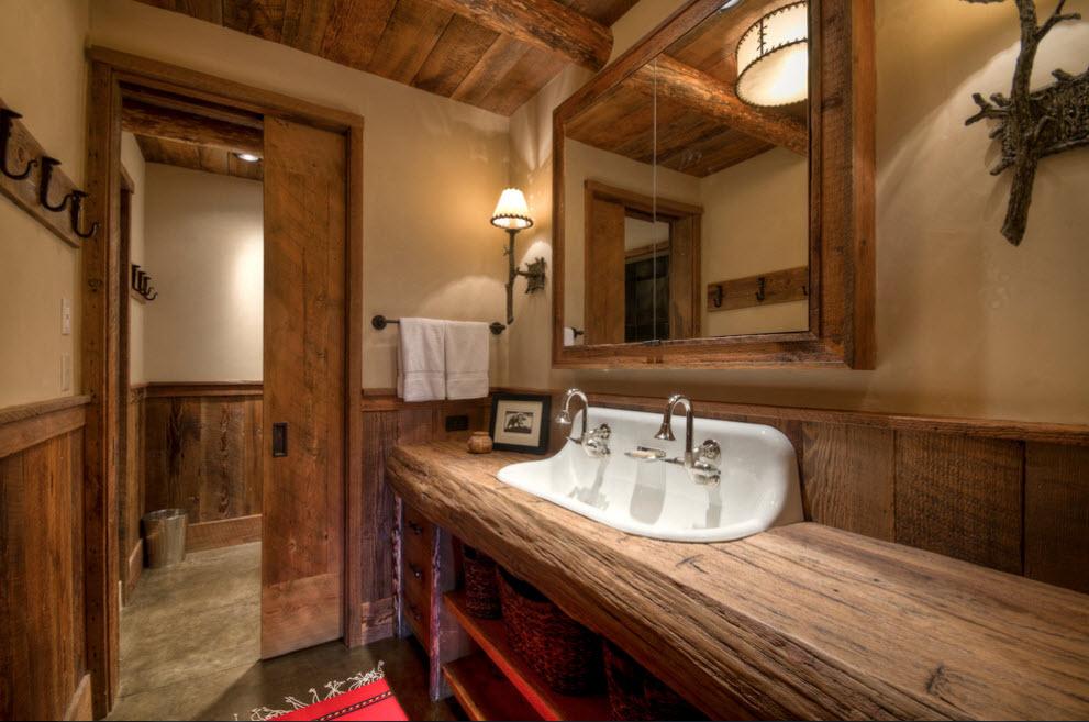 Кантри-стиль в ванной
