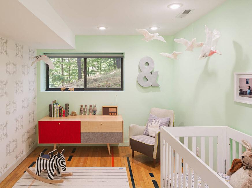Пастельные тона для детской комнаты