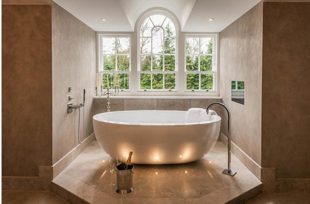 Роскошный интерьер ванной