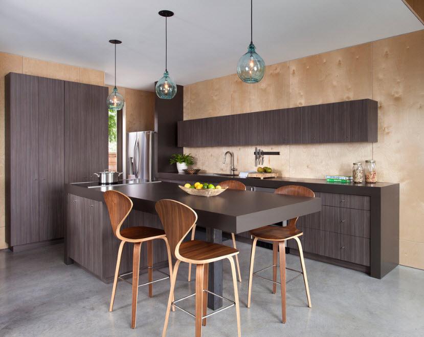 Листовые панели в кухне