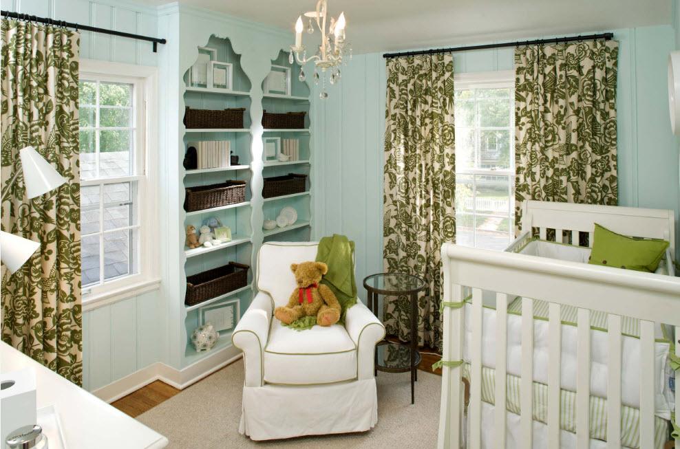 Мятный цвет для отделки детской комнаты