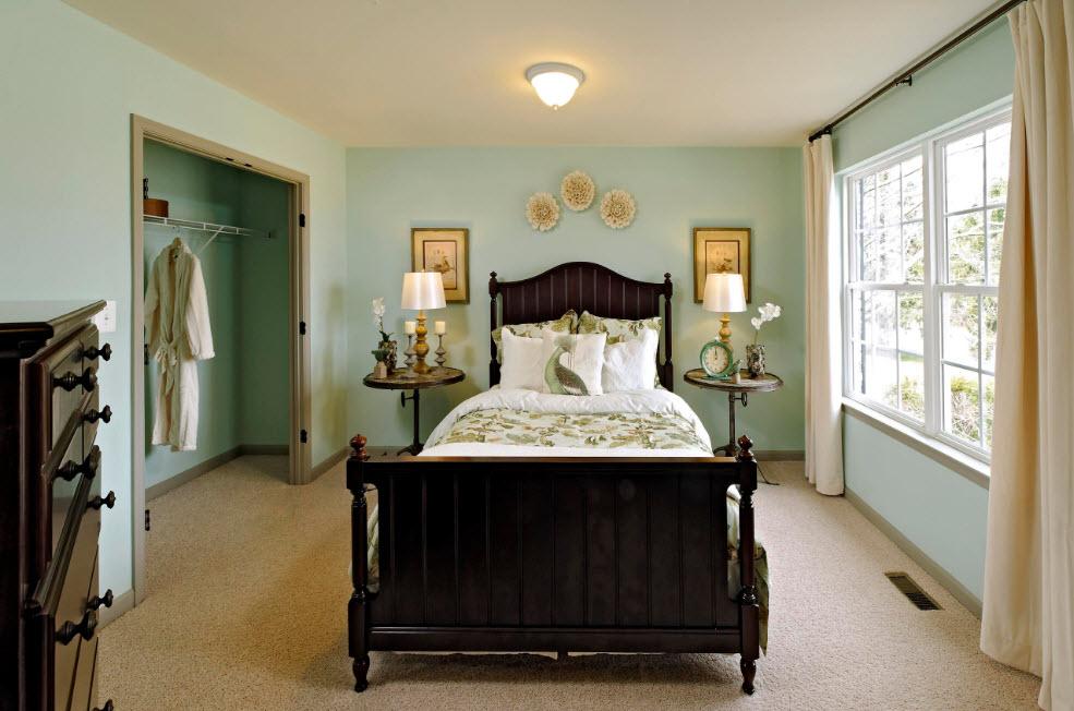 Контрасты в спальне