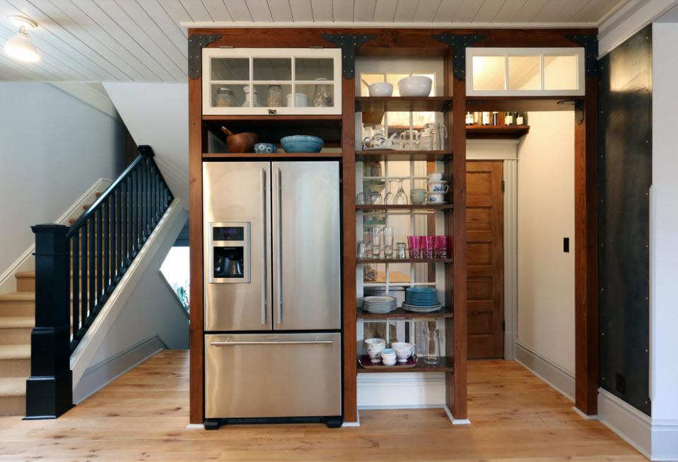 Стеллаж со встроенным холодильником