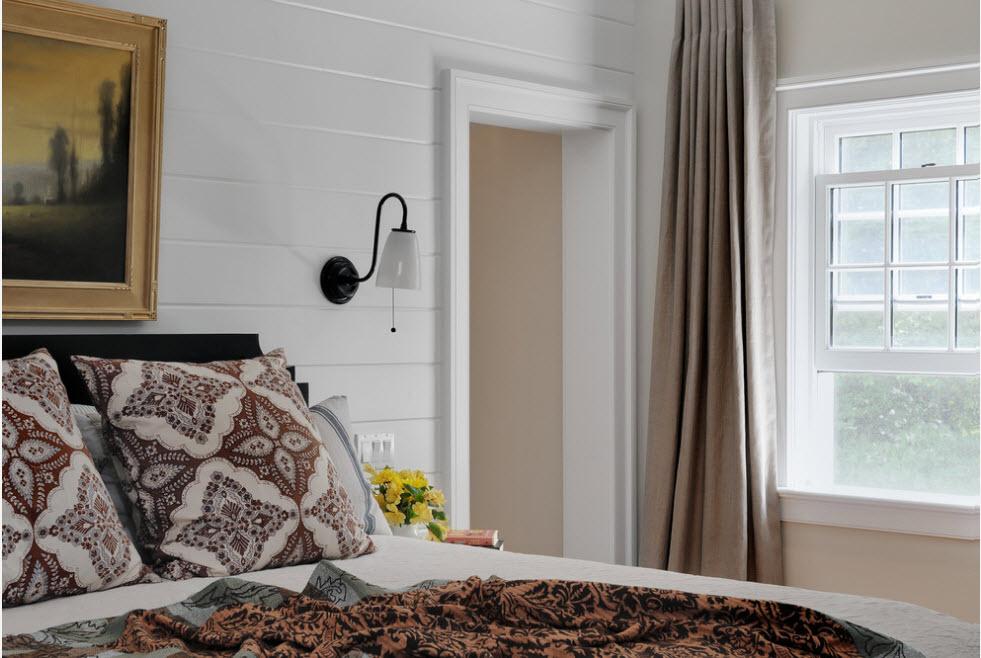 Белоснежная отделка для спальни