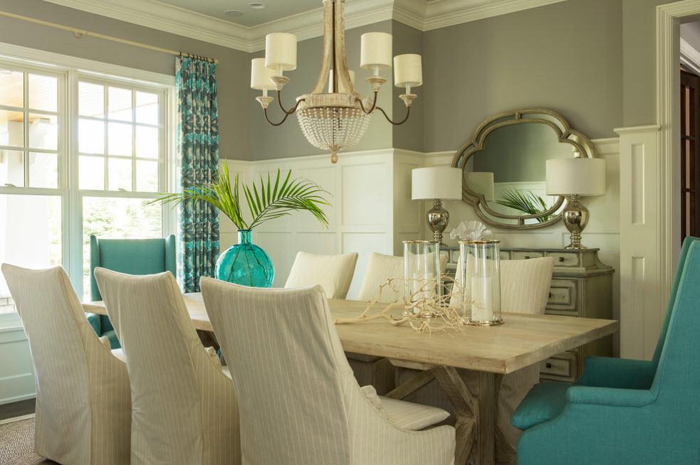 Обеденный стол цвета беленый дуб