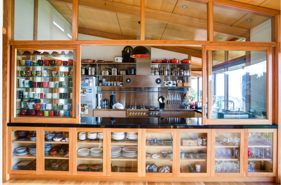 Стеллаж для кухонного помещения