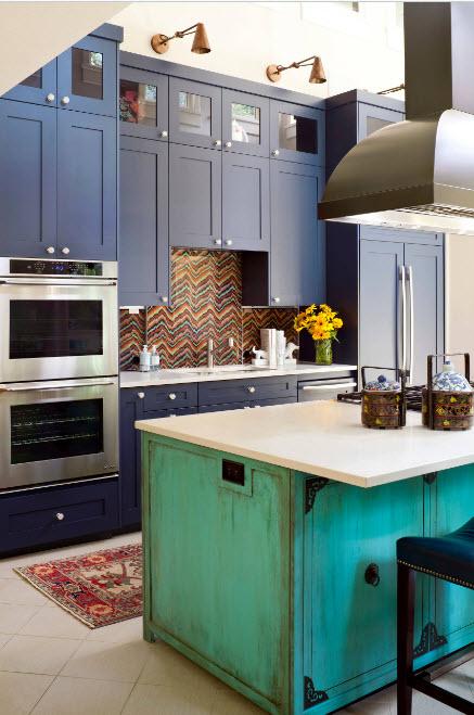 Необычные цвета в кухне