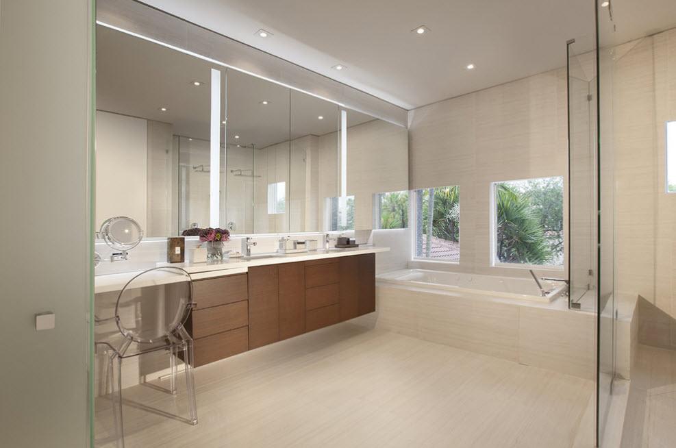 Дизайн для просторной ванной