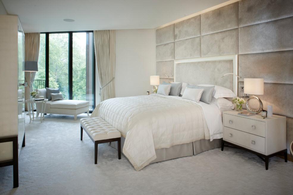 Мягкие панели для отделки спальни