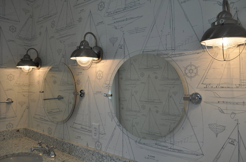 Необычный дизайн утилитарной комнаты
