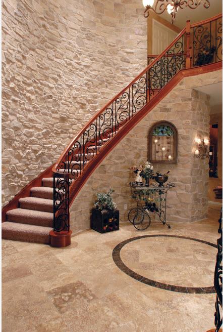 Роскошное оформление лестницы