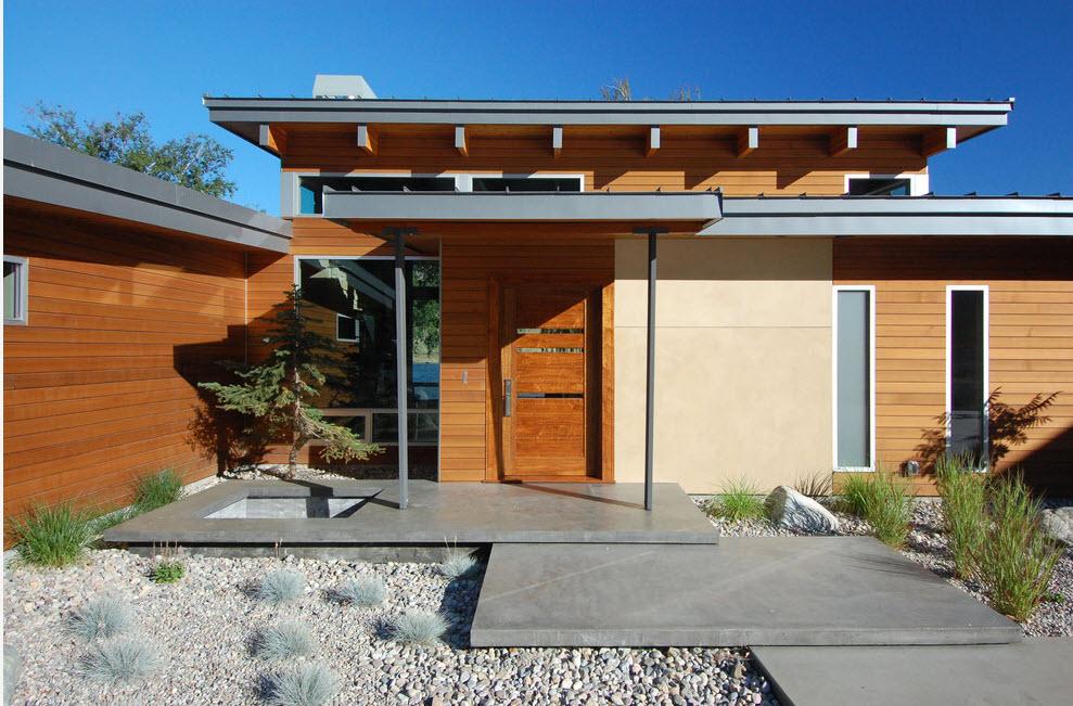 Оформление одноэтажного дома