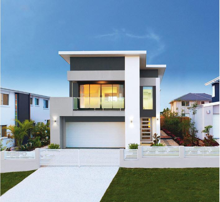 Бело-серый фасад