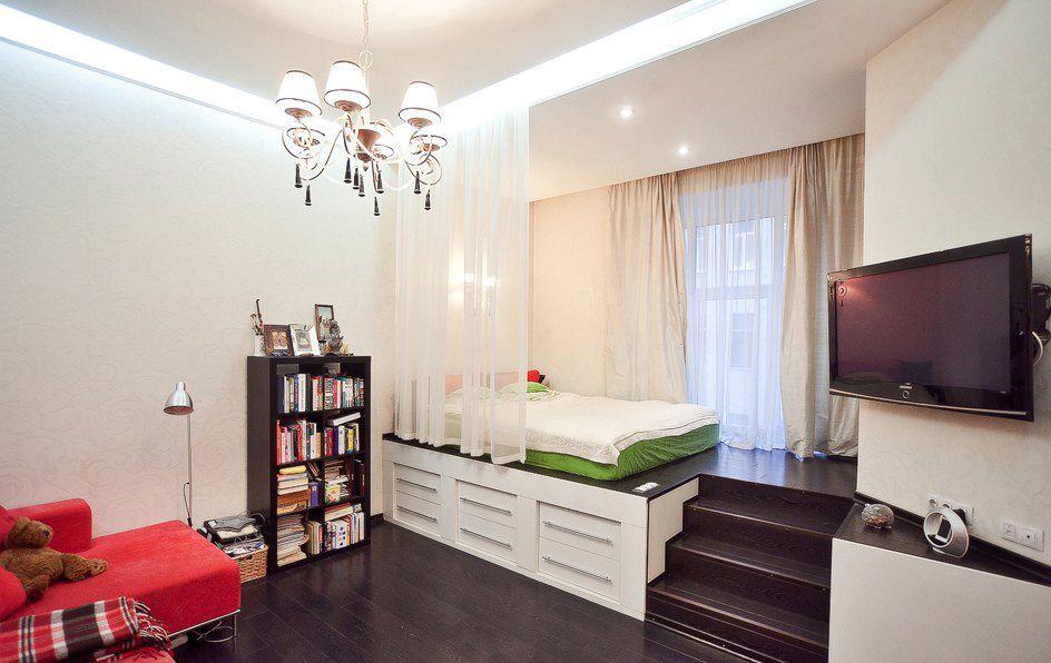 Ремонт однокомнатных квартир дизайн зонирование