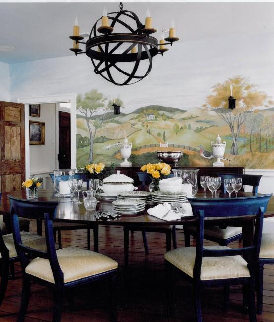 Классическая роспись в столовой