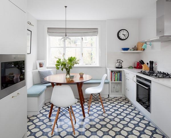 Обстановка белой кухни