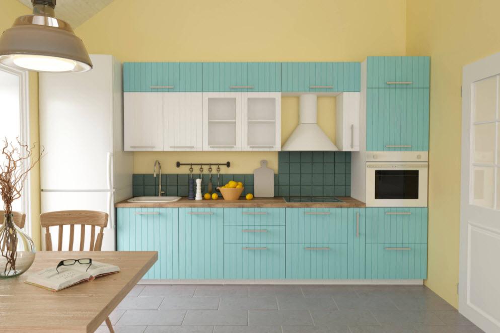 голубая кухня-студия