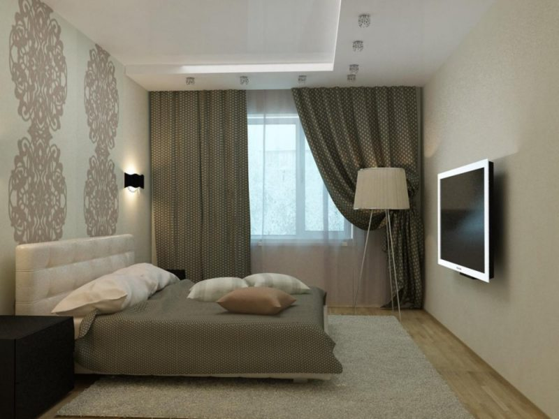 дизайнерская серая спальня