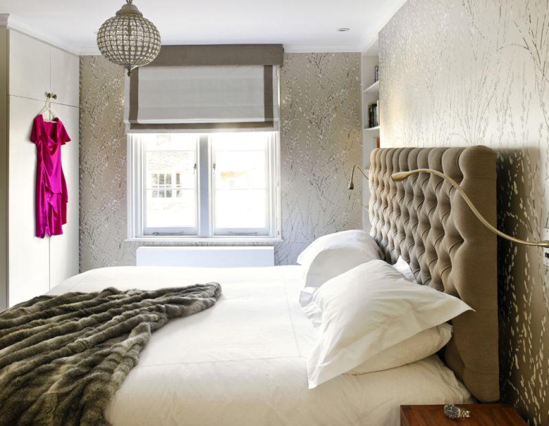 интересная женская спальня
