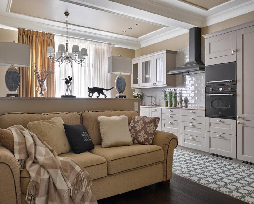 кухня-студия с диваном