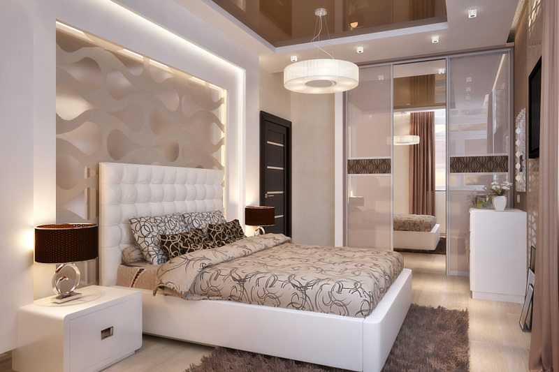 оригинальная спальная комната