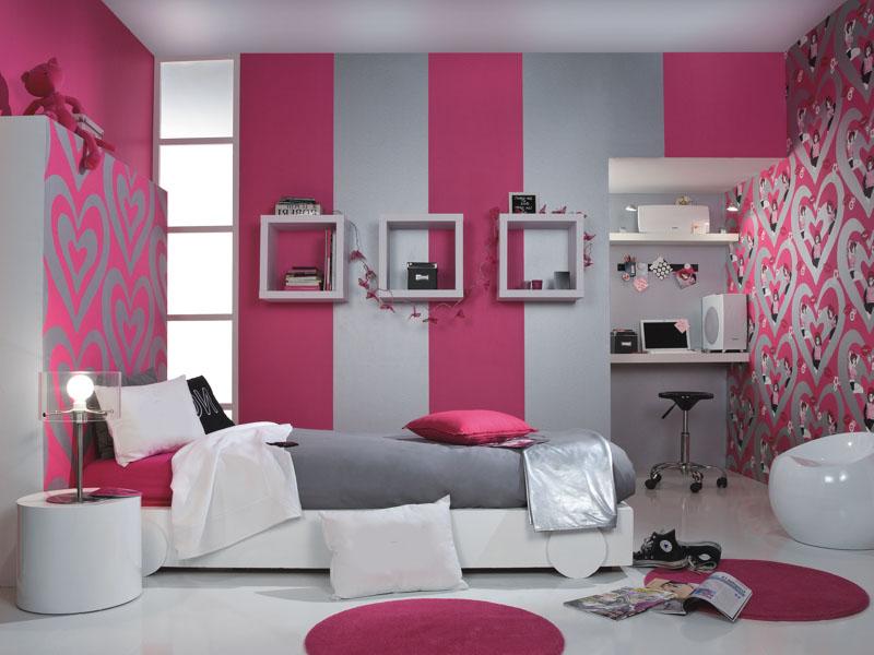 розовые полосатые