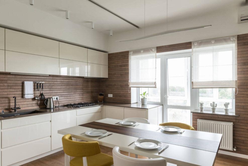 стильная кухня-студия