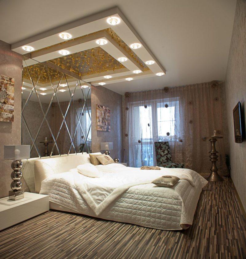 стильная спальная комната