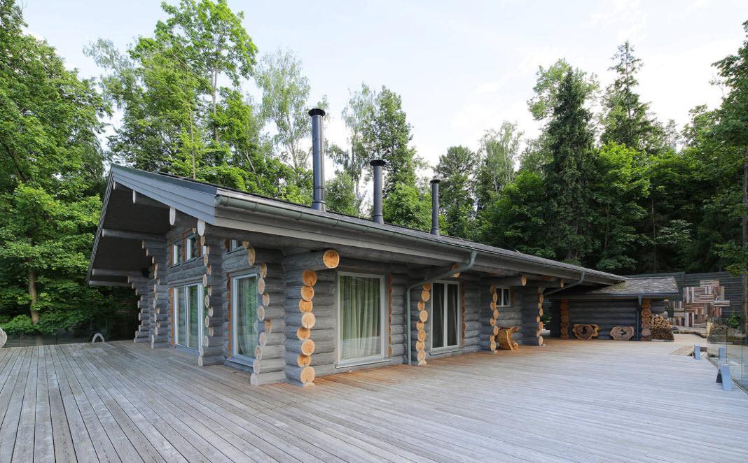 шикарная деревянная дача
