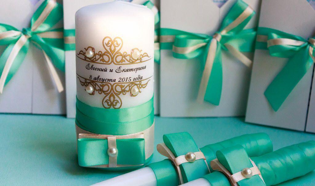 Свечи в подарок на свадьбу 25