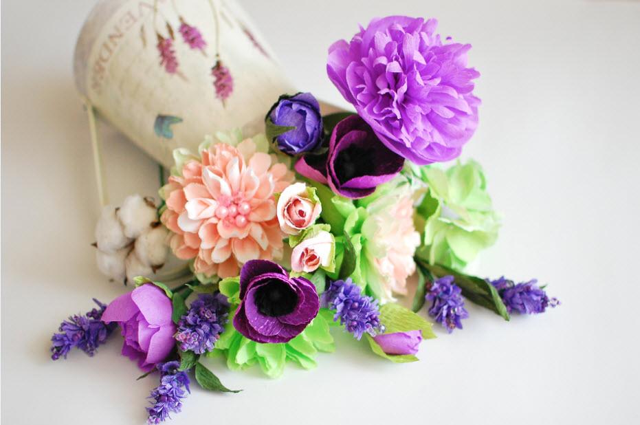 Цветы из мягкой бумаги своими руками